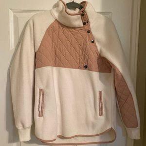 Abercrombie Asymmetrical snap up fleece